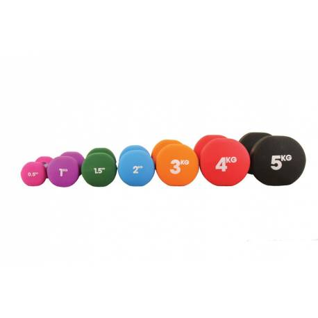 Set 2 Dumbells Neopreen Fitness Mad